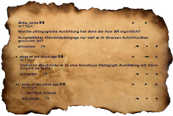 Wehe, wenn nicht Deutsch!