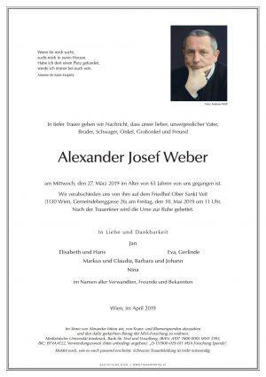 Wir trauern um Alexander Weber
