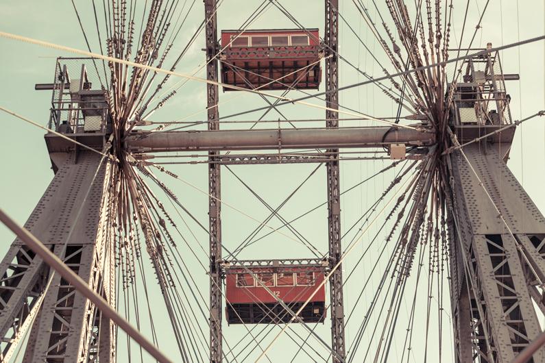 Konstruktionsdetails des Wiener Riesenrades