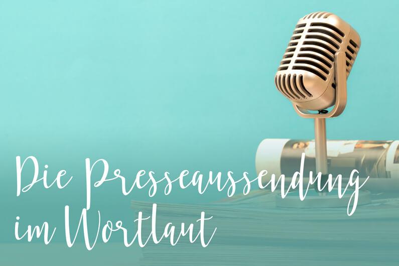 Personalpaket: Presseaussendung im Wortlaut
